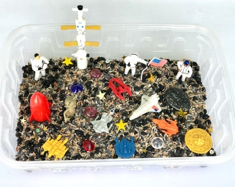 "Outer Space Sensory Bin Set, ""Mission To Mars"""