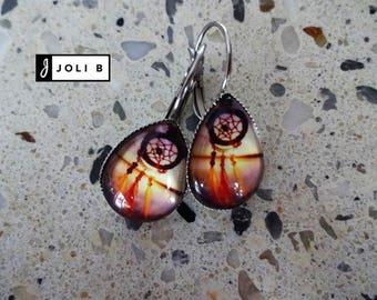 Earrings - 13 X 18 mm glass Cabochon