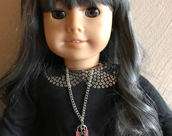 Key To My Heart Necklace for 18 inch American Girl Dolls