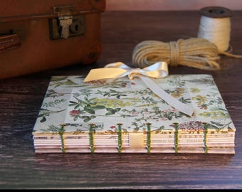 Gardening Notebook, Gardening Journal, Handmade Journal, Blank Journal, Gifts for Writers, Gifts for her, Gifts for Wife, Guest Book Journal