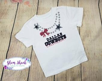Dallas cowboys toddler shirt, cowboys cheerleader shirt, toddler football shirt