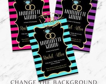 Bachelorette Party Invitation + Details - INSTANT Download