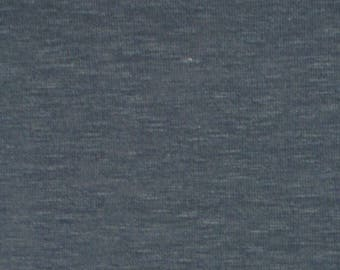 Vintage Cadet Blue Heather Solid Hacci Sweater Knit Fabric