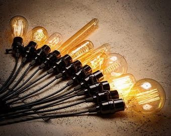 Edison Light Bulbs | Incandescent Filament Bulb Lighting | Antique Light Bulbs | Retro Lamp Parts | Steampunk Accessory Supplies