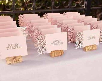 Hopeless romantic wedding name tags, rustic wedding name tags