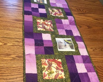 Quilted Dragonfly Table Runner 15 x 40