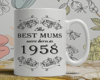 Mum 60th birthday mug mum 60 birthday mug for mum gift ideas for mum present for mum, Any year available on request FF B Mum 1958