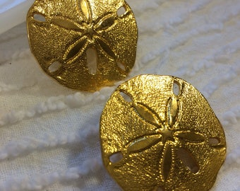 Premier Design Goldtone Sand Dollar Post Earrings