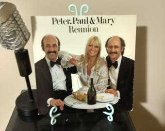 Peter, Paul and Mary - Reunion 1978 LP Album Classic Folk Music Vinyl Record