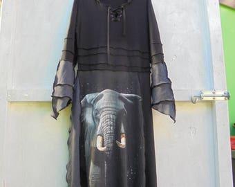 upcycled elephant dress
