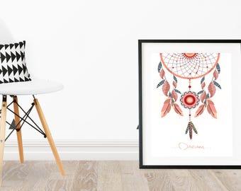 DIGITAL DOWNLOAD dreamcatcher wall print/decor