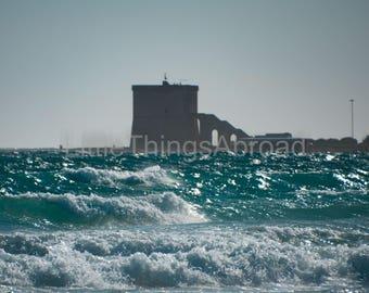 Ocean photo print on canvas, Spain, ocean, sea, sunset, photographic print, travel photography, giclee, landscape, digital art, wall decor