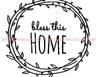 Custom SVG. Bless this home.