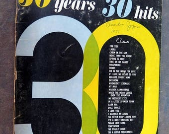 S 30 Years 30 Hits Vocal and Piano Edition no. 3.  With Chords.  1966 Miller Music Corporation.