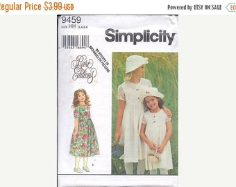 Simplicity 9459 Child's and Girls' Dress & Hat Sewing Pattern