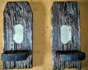 Driftwood Mirror Set, Reclaimed Wood mirror, Driftwood Mirror, Rustic Mirror, hand crafted mirror, Rustic Reclaimed Driftwood
