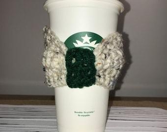 Holiday Coffee Cozy, Cup Cozy, Coffee Sleeve, Crochet Coffee Cozy, Reusable Coffee Cozy,  Christmas Gifts, Stocking Stuffer, Drink Cozy