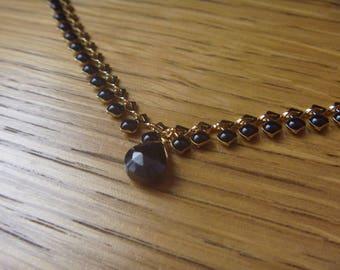 deep black collar and black gemstone