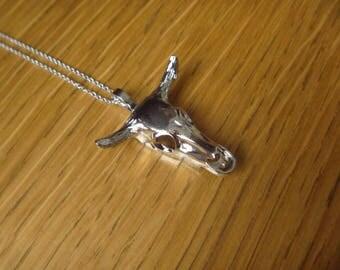 buffalo silver necklace