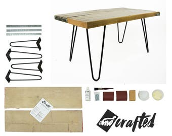 Bedside table etsy for Build your own coffee table kit