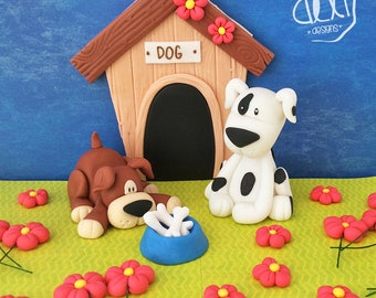 Edible Fondant Puppies (Dogs) Cake Topper