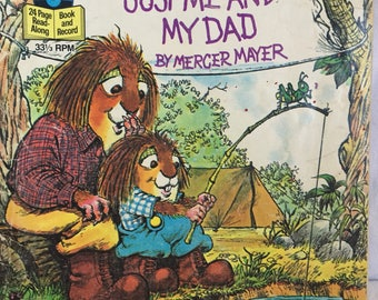Vintage Little Golden Book, Just Me and My Dad.