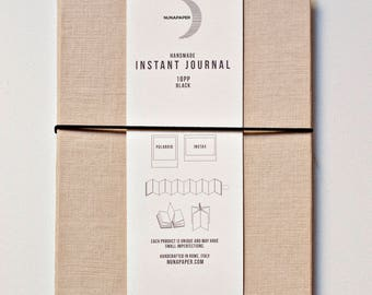 Instant Journal SAND for Polaroid and Instax Wide | Accordion polaroid album and frame, black cardboard