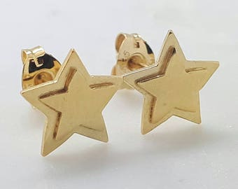 Gold Star Studs, Star Earrings, Star Studs, Star Stud Earrings, Gold Earrings, Gift for Her, Best Friend Gift, Dainty Minimalist Gold Studs