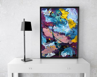 Abstract Art on Paper Housewarming with Art Original Painting on paper Affordable art Christmas gift Abstract Painting Contemporary art