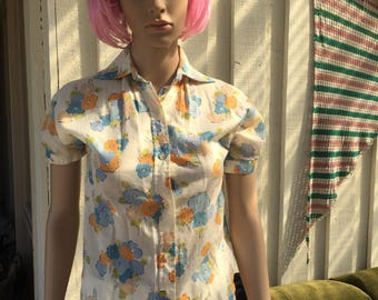 70's foral shirt