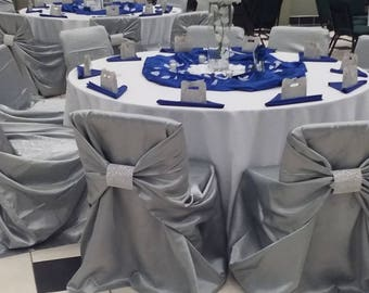 Universal Satin Chair Covers   (Multi-Colors)