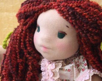 waldorf doll Waldorf inspired doll, doll, handmade doll, ooak art doll, doll collector doll,