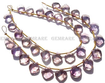 Ametrine Faceted Apple Semiprecious Gemstone beads, Quality A, 9 to 10.50 mm, 18 cm, 17 pieces, AMETRI-100/1, Craft Supplies For Jewelry