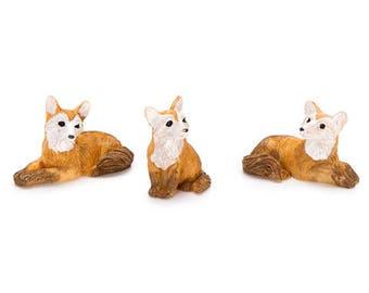 Mini Fairy Garden Foxes/ Mini Foxes/ Fairy Garden Animals / Fairy Garden