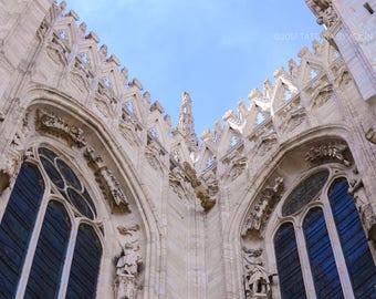 Italy photo Duomo photo Milan photo Architecture photo Gothic archicture photography Gothic cathedral photo Italy photography Duomo windows