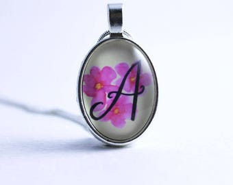Initial Necklace - Personalised necklace - Bridesmaid necklace - Personalised gift for her - Illustrated Initial necklace - Calligraphy