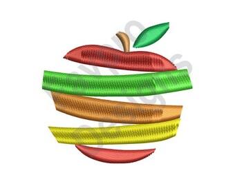 Sliced Apple - Machine Embroidery Design