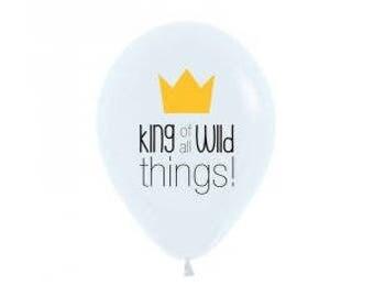 King of all Wild Things Balloon, Wild Thing Balloon, Wild One Party, Wild Balloons