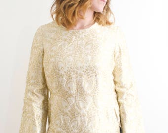 Gold Thread Indian Style Vintage Tunic