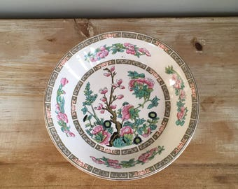 Lord Nelson Ware  Pink Green Gold Indian Tree Shallow Dish Plate Vintage