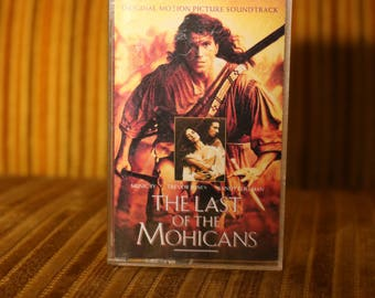 The Last of the Mohicans 1992 Soundtrack Cassette Daniel Day-Lewis Madeleine Stowe Jodhi May