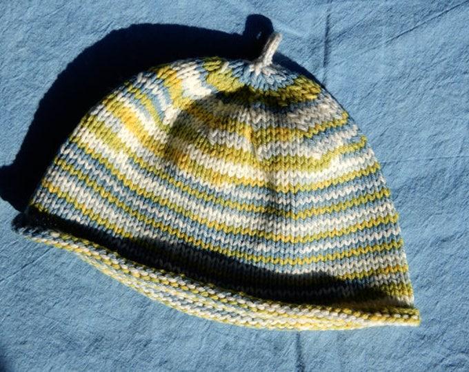 Beanie Hat ~ Japanese Indigo + Dyer's Chamomile