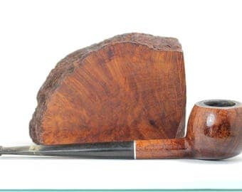 Vintage pipe Mansfield Genuine Briar London Finest, PetesNeatOldStuff, Tobacciana, old used tobacco smoking pipe, estate pipe vintage Canada