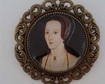 Anne Boleyn Beautiful Bronze Brooch