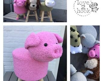 Animal Stool Pig