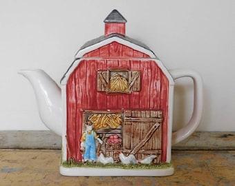 Vintage Gibson Greeting Card Inc. Farmhouse Teapot