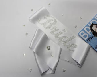 Bridal Sash Bachelorette Sash Wedding Sash Maternity Sash Bachelorette Party Bride to be Bride Crystal sash Bridal gift Bridesmaid gift GIFT