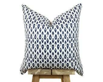 Designer Pillow Cover | Navy and Off White | Lynwood