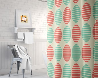 retro shower curtain 70u0027s shower curtain cool shower curtain mid century shower curtain