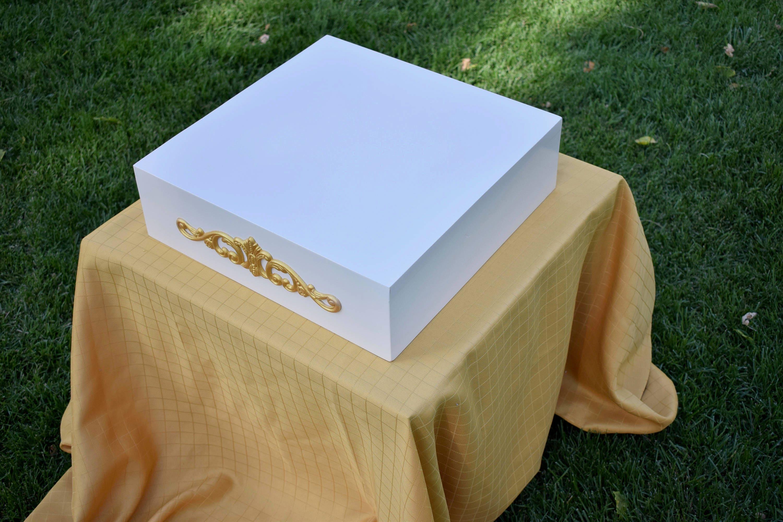 Gold Cake Stand Wedding Cake Stand Wood Cake Stand 16 Inch Cake